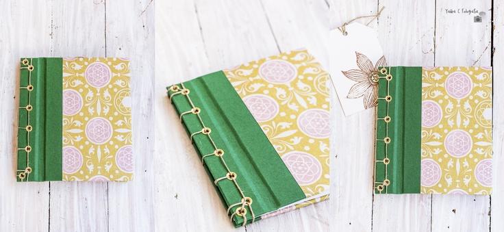Mini Libreta encuadernada con cosido japonés. http://yadiracfotografia.blogspot.com/2013/06/encuadernacion-japonesa-libretas-y.html