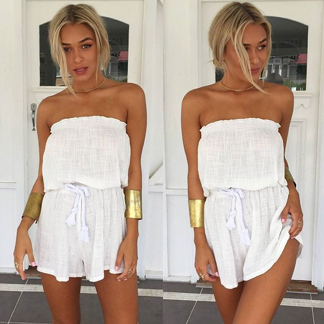 Summer   Beige   Strapless   Playsuit   Staple   Sale   Shop this summer staple for only $39!  http://www.muraboutique.com.au/collections/casual-playsuits/products/traditions-playsuit-beige?variant=16973714183  #muraboutique