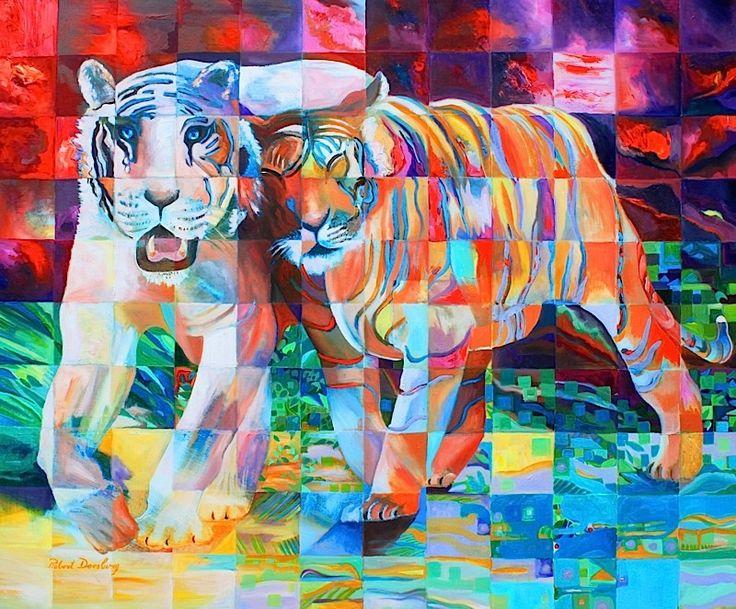 Robert Doesburg #Tiger #Painting