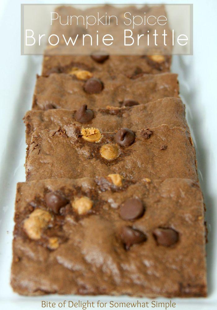Pumpkin Spice Brownie Brittle Recipe - Somewhat Simple