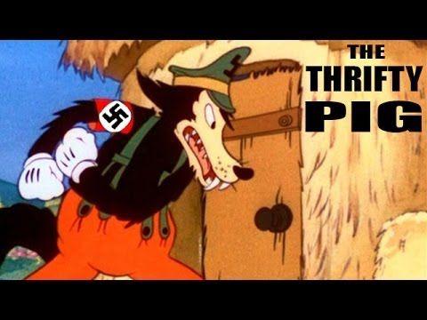 The Thrifty Pig | 1941 | WW2 Anti-Nazi Animated Propaganda Short Film by...