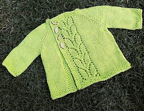 Free knitting pattern for Leaf Love baby cardigan and more baby cardigan knitting patterns