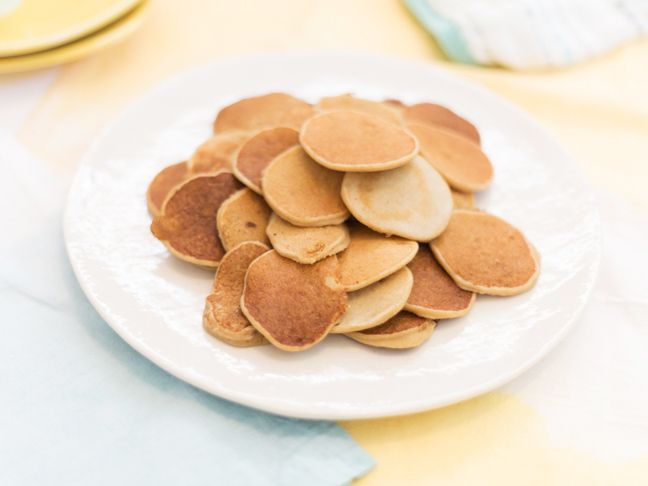 baby-cereal-pancakes (use baby veggie purees instead of the banana)