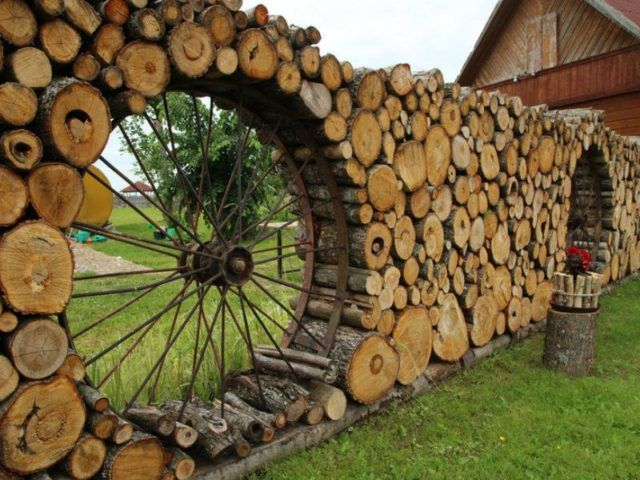 Different Type Of Art: Stacking Firewood