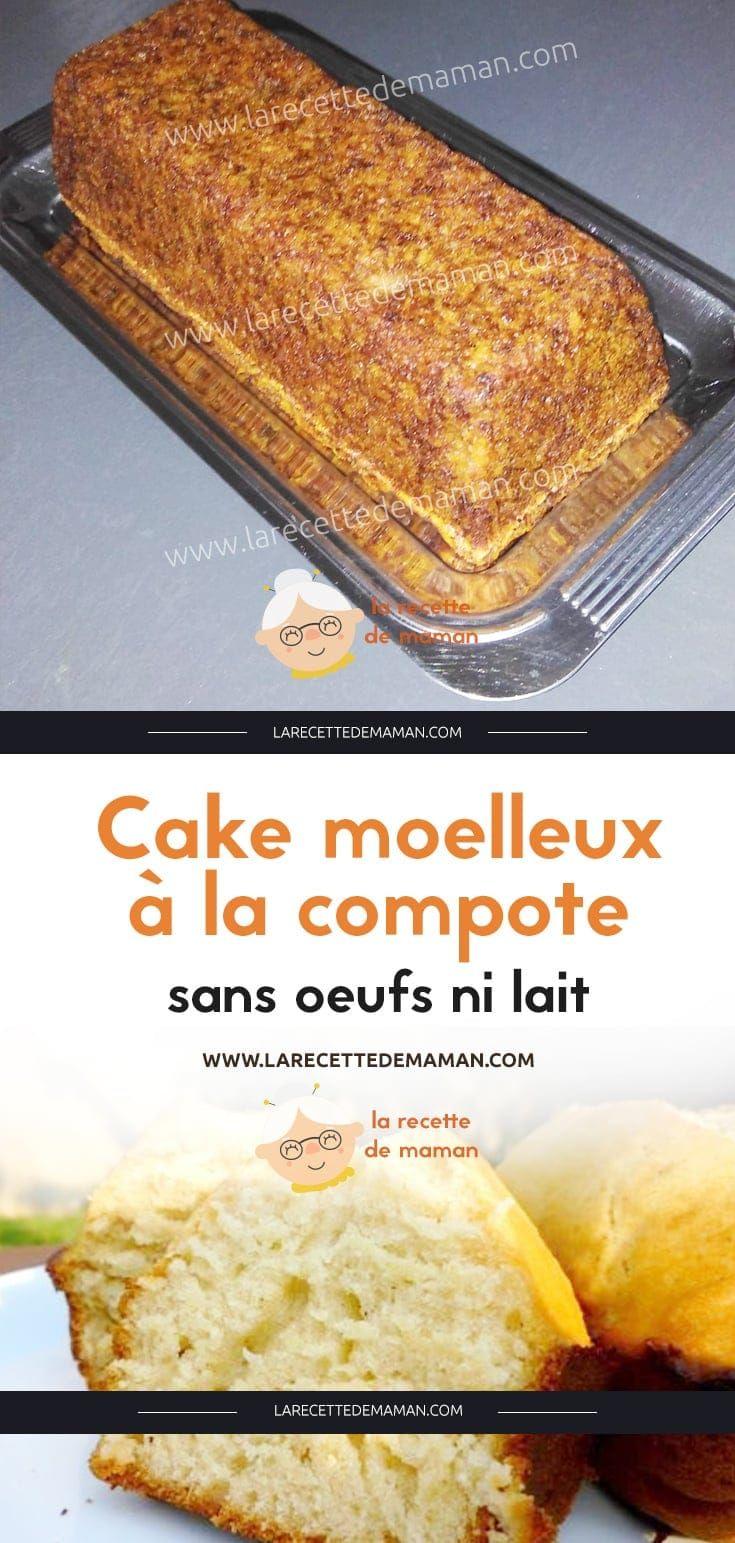 Cake moelleux à la compote, sans oeufs ni lait – La Recette de maman