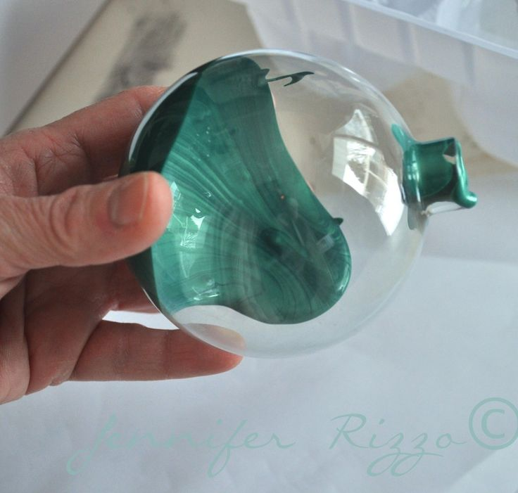 Add metallic acrylic paint to the inside of ornaments to for Custom acrylic paint