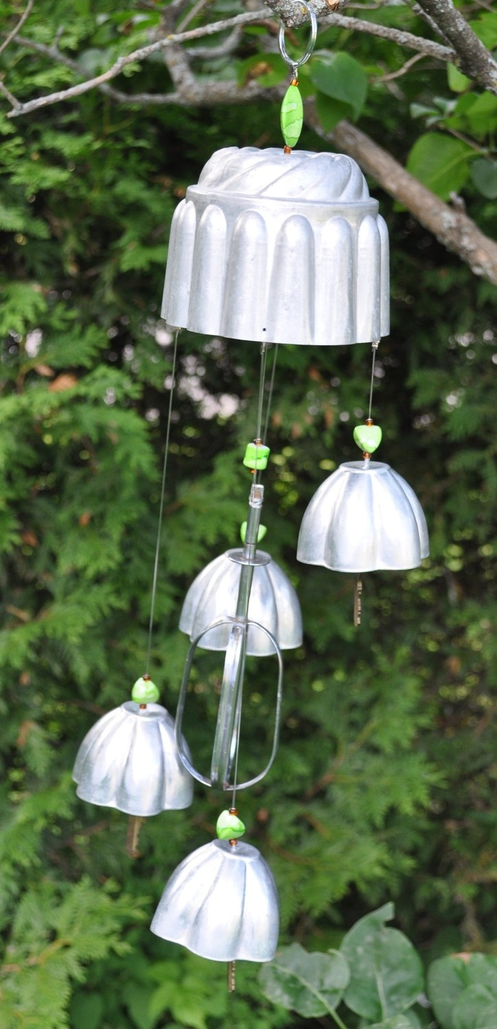 Vintage Jello Molds and Silverware Wind Chime by ZephyrTrinkets. $22.00 USD, via Etsy.