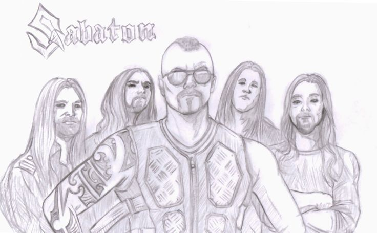 Sabaton Band Fanart by me