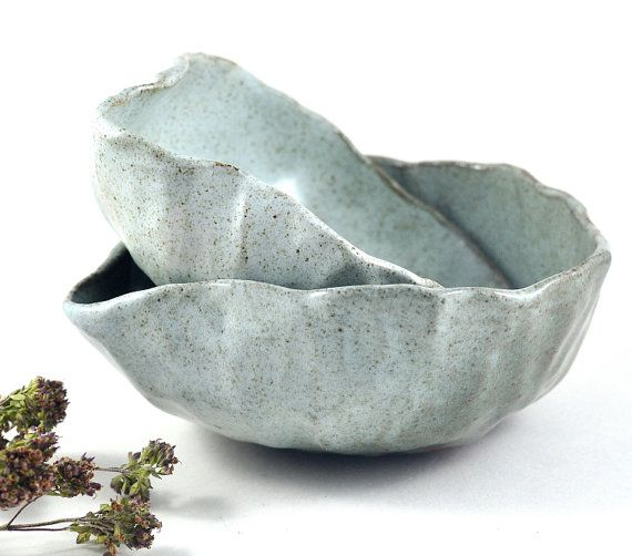 This set of two Handmade Pottery ceramic spouted mixing bowls are glazed in a beautiful speckled cream white glaze which gently highlights the surface texture of the dishes. They are fired to stoneware temperature (1280C / 2336F) making them dishwasher safe, oven safe and microwave safe.  These rustic bowls are perfect for preparing, mixing and serving salad dressings, gravy and small amounts of batter. Due to the firing process they are suitable for microwave to table or oven to table…