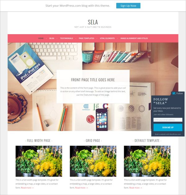 Sela is a vibrant, bold and clean free WordPress theme designed wonderfully or business websites. This responsive theme is ideal to offer wonderful navigation experience to every mobile, tablet, desktop or laptop user.