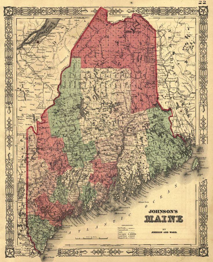 Johnsonu0027s Maine Johnson and Ward 1864 New