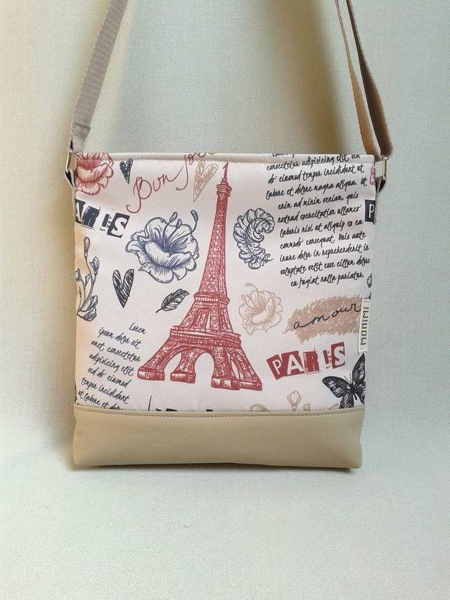 Párizs a szerelem, a romantika városa. A Monimisek javíthatatlan romantikusok, nekik egy ilyen táska kell, hogy legyen a készletükben! Ez a szép vintage minta saját tervezésű és gyártású, máshol ilyen nem lehet vásárolni. A táska anyaga tartós, vízlepergető, tisztításkor egyszerűen le lehet törölni, és ugyanúgy mosható, mint minden Monimi termék. Táskamerevítő és vatelin teszi erőssé és jó tartásúvá. Lovely-bag 05 női #táska #párizs