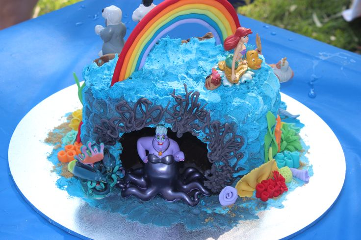 The Little Mermaide cake with figurines