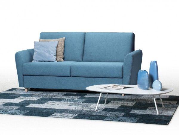 Le Canape Finland En Tissu Bleu Est Un Canape Lit Avec Pietement Bois Vous Pouvez Choisir La Taille Du Couchage De 120 A Canape Canape Lit Gigogne Canape Lit