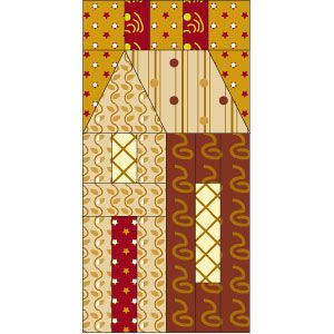 House Block: FREE quilt block pattern designed by Elizabeth Angus at McCallsQuilting.com