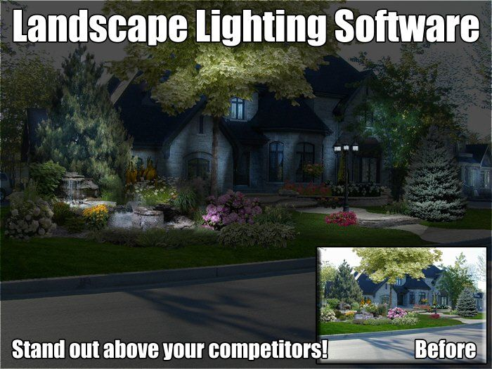 14 best landscape lighting software examples images on pinterest landscape lighting software creates a outdoor lighting design from a picture aloadofball Image collections