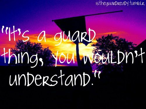 I miss colorguard so I'm gonna spam y'all with guard related things.