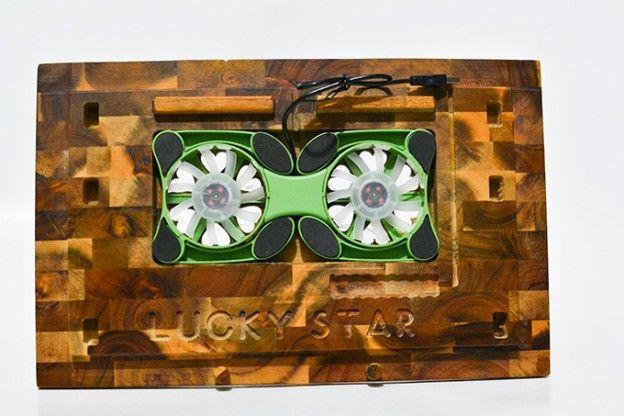 Đế tản nhiệt Laptop bằng gỗ Lucky Star! Đế tản nhiệt giá rẻ Biên hoà, Tp HCM | MuaMuaOnline.com