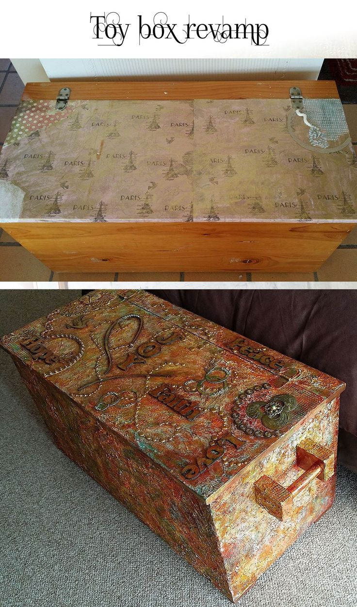 Old toy box revamp