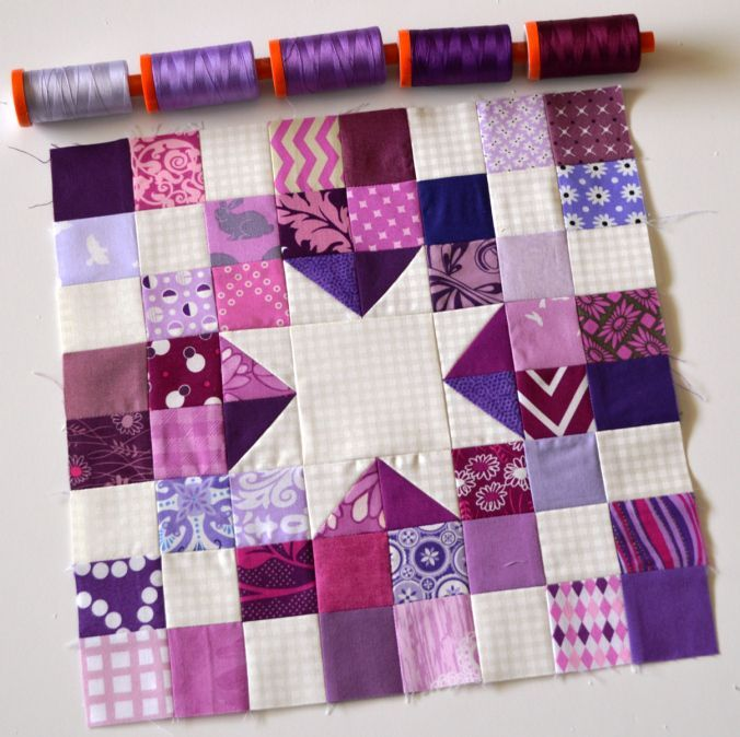 Quilt Block with 5 Spools
