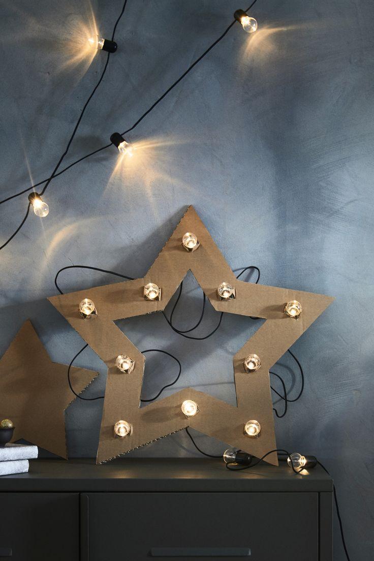 Lichterkette (24), LED BLÖTSNÖ innen schwarz