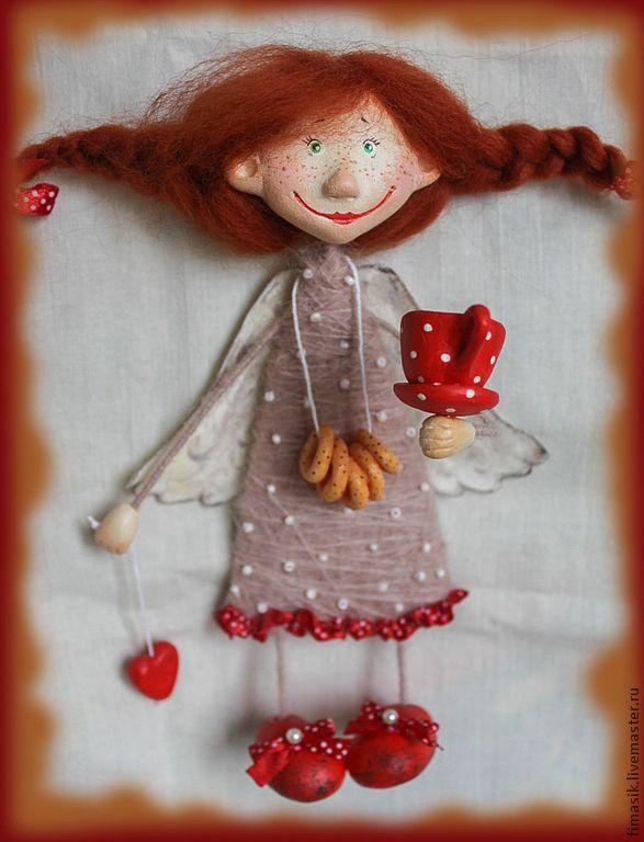 Купить Дуняшка (магнитик-подвеска) - феечка, душевный подарок, душевные вещи, подарок на 8 марта