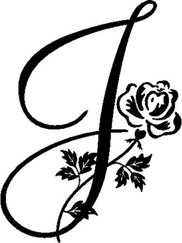 Another J options, possibly placing the butterfly on the rose...