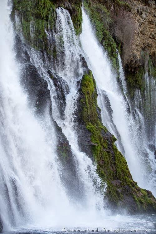 Burney falls shasta cascade california close up