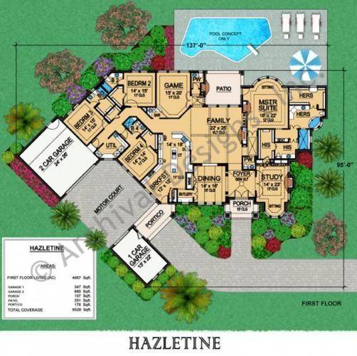 #floorplan #twostory    Hazletine - Best Selling Tudor House Plan Hazletine First Floor Plan