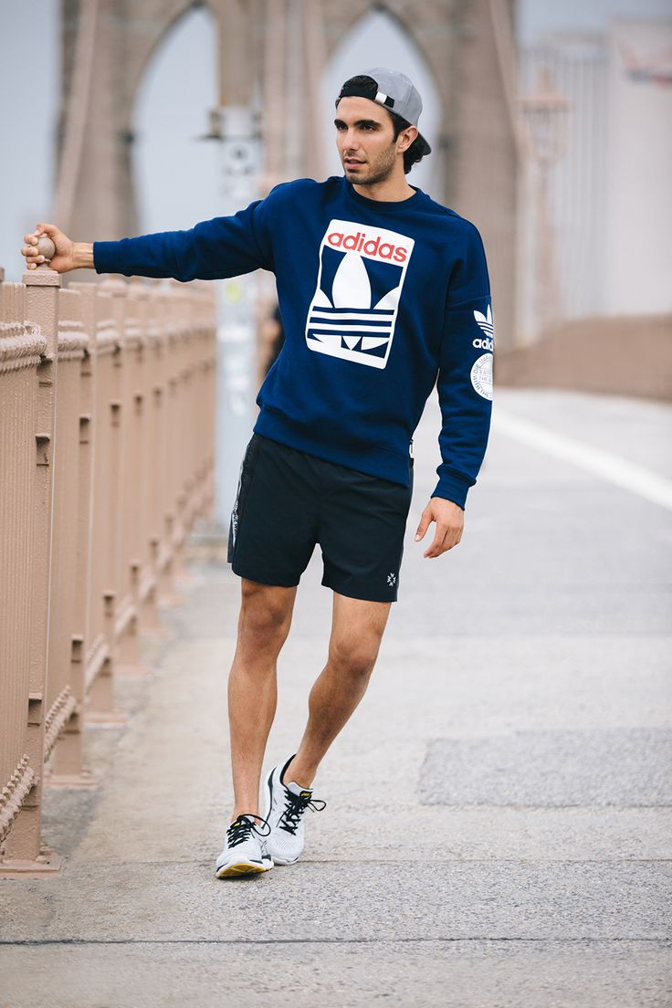 Sweatshirt paired with shorts for a early morning run. - Total Street Style  Looks And Fashion Outfit Ideas