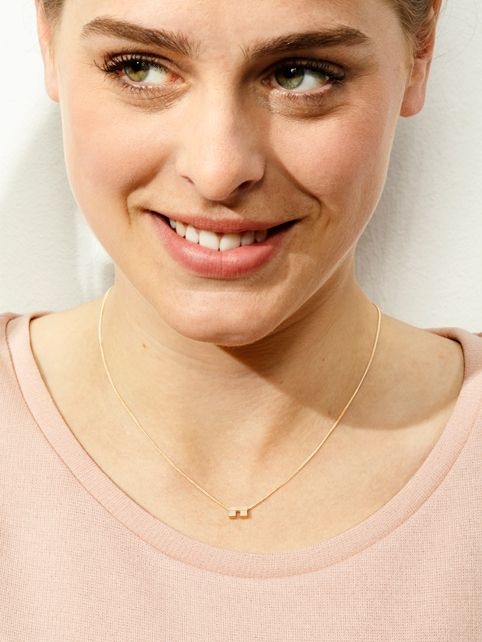 TURINA PIX2.1G necklace with pendant from casted silver (925), gold-plated. 75 EUR via www.turinajewellery.com