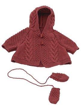 Rode cape met capuchon en bijpassende ....