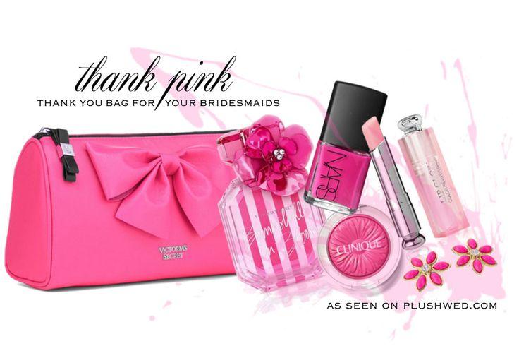 Plushwed Picks: Thank you bag for your bridesmaids // www.PlushWed.com // Toronto Wedding Blog // Gifts for your bridesmaids // Say thank you to your bridesmaids // Propose to your bridesmaids // Gifts for your bridesmaids // Victoria's secret // Clinique // DIOR Addict // Kate Spade New York // Nars
