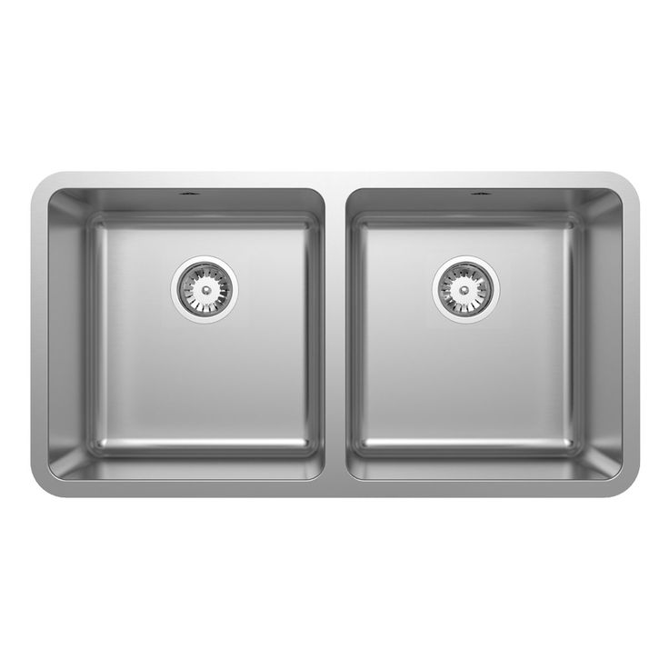 Abey Two Bowl Undermount Sink with accessory pack