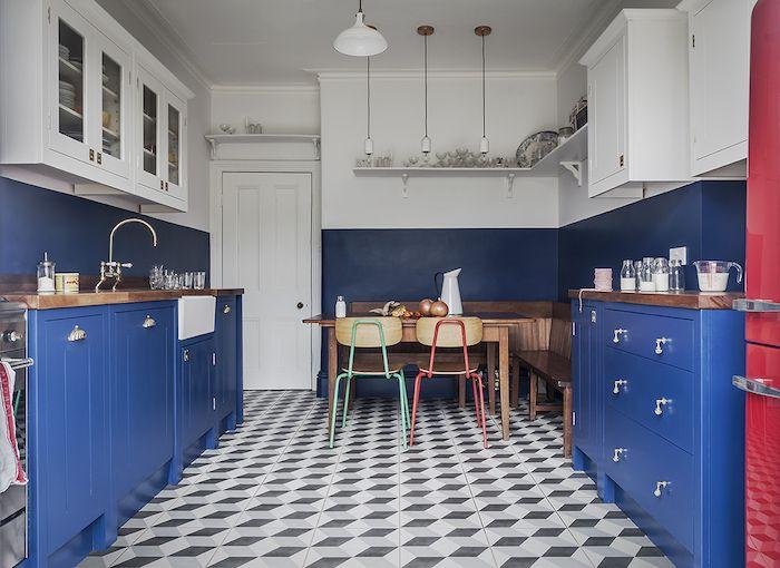 1001 Facons Originales D Adopter La Cuisine Bleue Couleur Peinture Cuisine Peinture Cuisine Meuble Cuisine