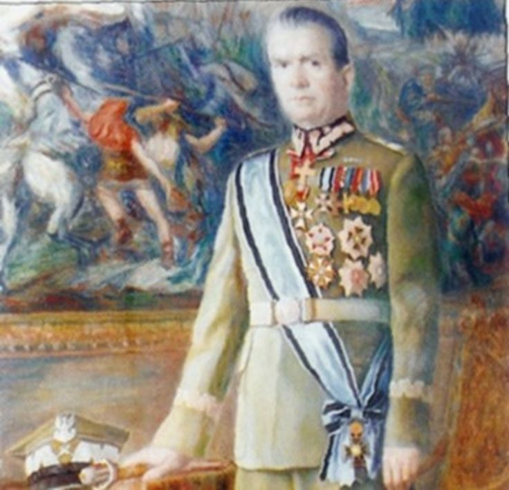 Portrait of Michał Rola-Żymierski, first Marshal of the Polish People's Republic.