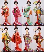 New Arrival 14 Inches Japanese Geisha Maidenform Doll Collectibles Silk Kimono Handmade Craft Home Decoration(China (Mainland))