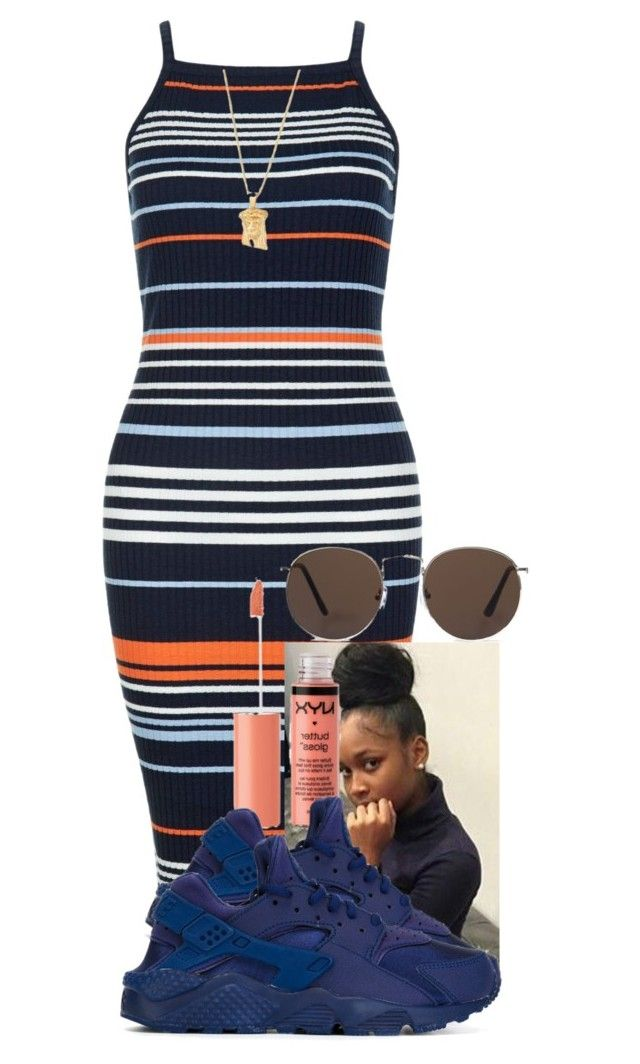 """"""""""" by aniahrhichkhidd ❤ liked on Polyvore featuring New Look, NIKE and MANGO"""