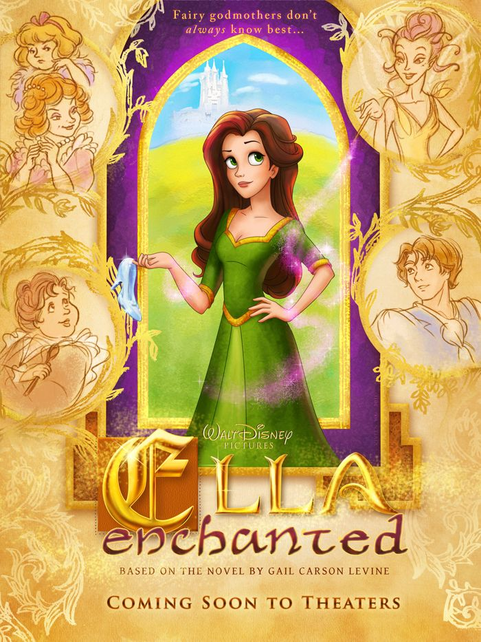 Ella Enchanted Movie Poster by polkapills
