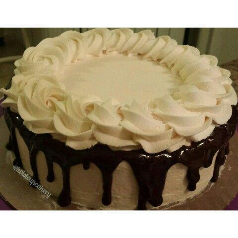 Gluten Free Chocolate Cake with Vanilla Buttercream and Chocolate Ganache
