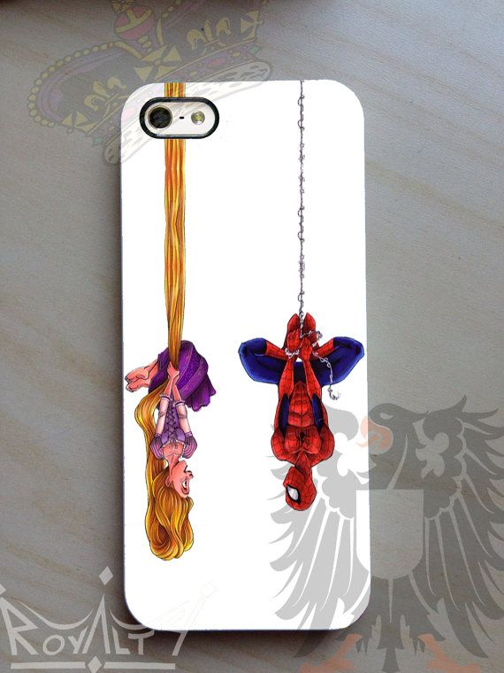 disney tangled and spiderman Case For iPhone 4/4s, 5/5S/5C, Samsung Galaxy S3/S4 on Etsy, $14.8.    This is funny