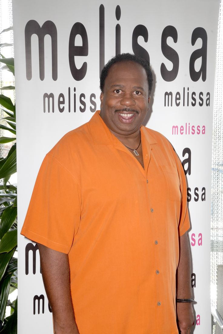 The Office's Leslie David Baker visiting the Melissa booth at the Pre-Emmy Style Lounge!