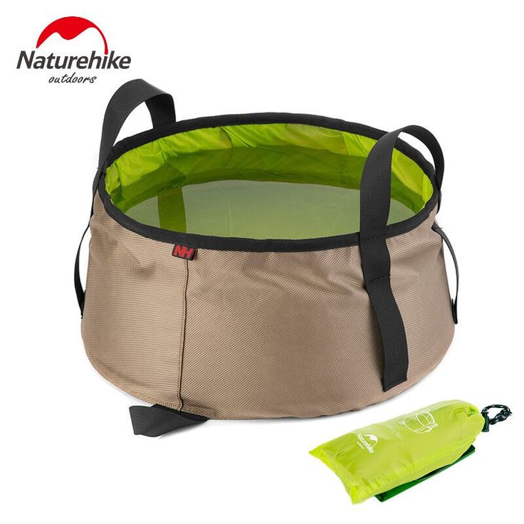 Naturehike 10l air wastafel ultralight portabel luar nilon lipat tas mencuci mandi kaki peralatan berkemah travel kit
