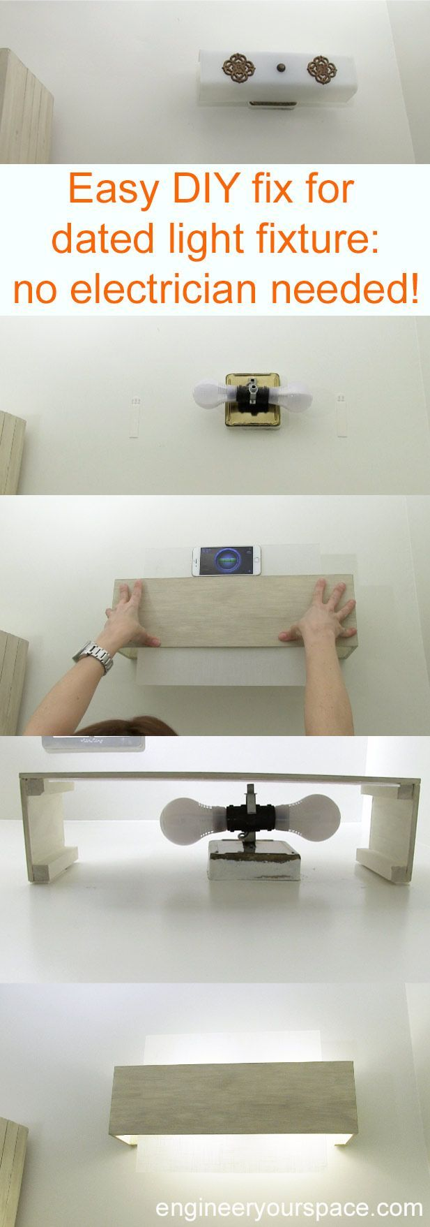 141 best images about small bathroom ideas on pinterest - Cost to install bathroom light fixture ...