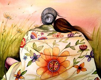 woman with butterflies from Guatemala art print by claudiatremblay