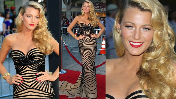 Blake Lively at the premiere of her new movie Savages. HER HAIR IS SPECTACULAR.: The Dress, Movie Savages, Hair, New Movies