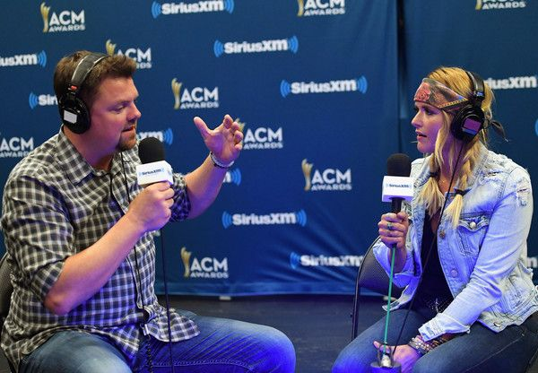Miranda Lambert Photos Photos - SiriusXM host Storme Warren (L) and singer Miranda Lambert speak during SiriusXM's The Highway Channel broadcasts leading up to the ACM Awards at T-Mobile Arena on March 31, 2017 in Las Vegas, Nevada. - SiriusXM's The Highway Channel Broadcasts Backstage Leading Up To The American Country Music Awards at the T-Mobile Arena