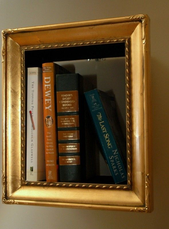 Photoframe bookshelves in diy  with Repurposed home decor Frame Bookshelf Book
