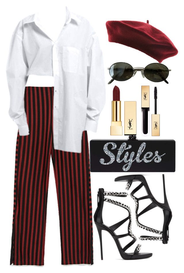 """""""Untitled #5035"""" by dudas2pinheiro ❤ liked on Polyvore featuring Ray-Ban and Yves Saint Laurent"""