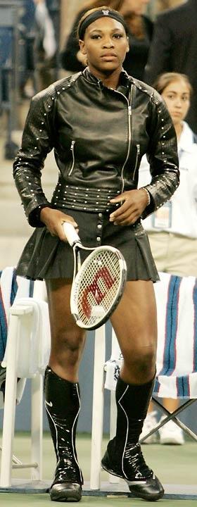 Serena Williams. Biker ball?
